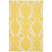 yellow rug for grey room