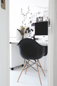 STYLIZIMO BLOG: My home office in Black & White Pink