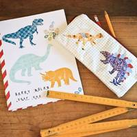 Wall Decals Mini Dinosaurs (Reusable and removable fabric stickers, not vinyl) - MINI Dinosaurs from etsy.com