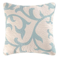 Serendipity Blue Quilted Throw Pillow