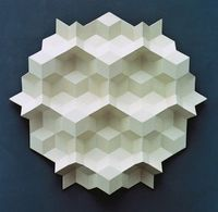 Gerard Caris has been a fervent Dutch sculptor and artist who has pursued his pentagons since the 70s.