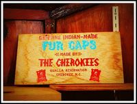 """Genuine Indian-Made Fur Caps made by """"The Cherokees"""""""