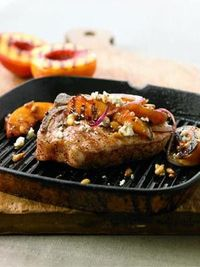 grilled pork & peaches. *skinny eats*