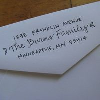 handwritten custom address stamp