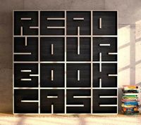typographical bookcase
