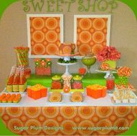How beautifully displayed is this! Way to make a feature out of your candy buffet.
