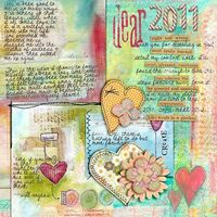 'Dear 2011' by mrshobbes. Gorgeous art journal style LO =)