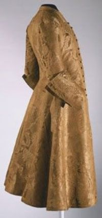 Man's Coat, Made in England, c. 1730-45 ~ Silk damask