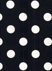 "OD Dot Black Crystal Lake Midnight by Robert Allen Drapery Fabric $10.95 		 100% poly outdoor fabric 1.5"" polka dot. 54"" wide"
