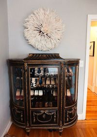 Such a genius idea for a shoe rack