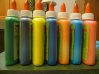 Glue that is colored - with food coloring!