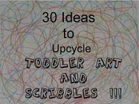 Up-cycle toddler scribbles and art
