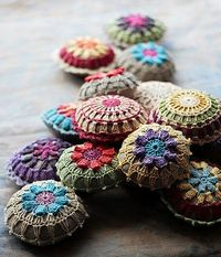 Easy cute use for small crocheted doilies.