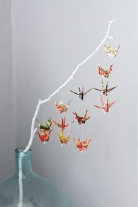 Beautiful paper cranes.