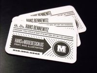 Business stationery by Hans Bennewitz - A good design utilizing single color printing.