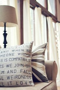 Make personalized pillow cases with any text. COOL!!