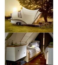 a tent/camper/trailer! and style to boot