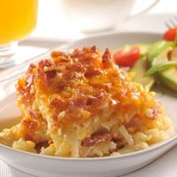 "They call it Potato Bacon Casserole, but I've seen something similar called ""Hash Brown Casserole"". Looks easy and yummy!"