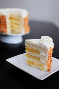Coconut Layer Cake Filled with Lemon Curd Beantown Baker