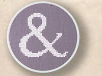 ampersand cross stitch pattern