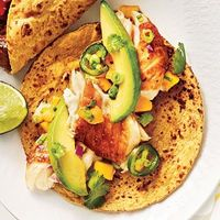Cumin-Spiced Fish Tacos with Avocado-Mango Salsa...YUM!!