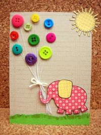 cute use of buttons as balloons