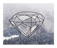graphic mountain diamond