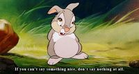 thumper is a smart bunny