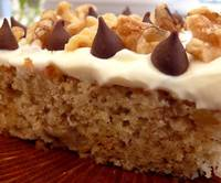 Noble Pig: Banana Cake with Cream Cheese-Sour Cream Frosting