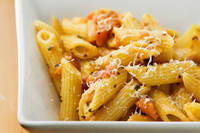 Framed Cooks: Penne with Gorgonzola Tomato Sauce