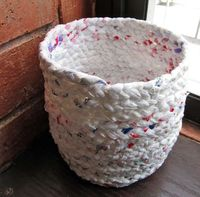 recycled plastic bags!