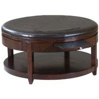 lowest price on round leather coffee table