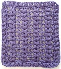 "#276 Purple Puffs Crochet Dishcloth �€"" Maggie Weldon Maggies Crochet"