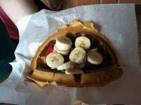 Sleepy Hollow's Nutella Waffle with Fruit.
