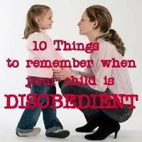 child's disobedience does not measure your value any more than his obedience showcases your achievement. 5. Your child's disobedience teaches you dependence on God. 6. And sometimes it's more than dependence He's after, it