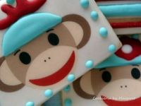 sock monkey cookies