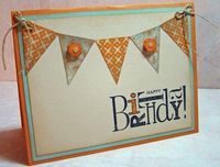 buttons on pennants...cute!