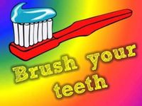 Video about brushing teeth!