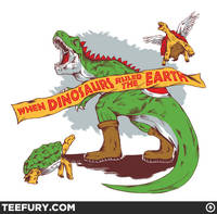When Dinos Ruled the Earth from teefury.com