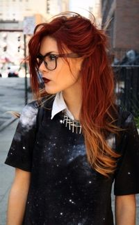 Ombre on red hair. This is kinda cool.