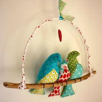 Love Birds with Baby - Folksy
