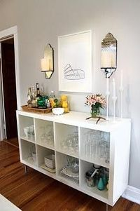 ikea expedit bookshelf bar