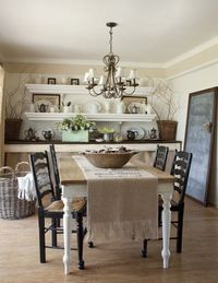 old painted cottage kitchen