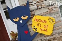 A LIFE-SIZE Pete the Cat!! :)