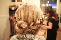 messy braid bun perfection