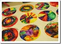 Coffee filters + markers + water = ...flowers? ...color wheel?