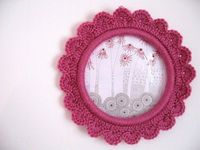 cute crochet frame