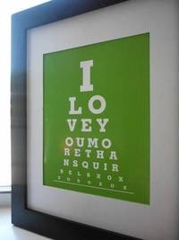 I love you more than squirrels Eye Chart Print from etsy.com