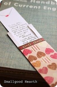 Hidden message bookmark