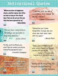 Inspirational quotes for your little ones.